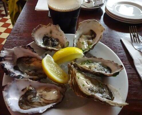 Shellfish and Guinness