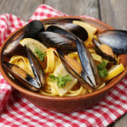 Healthy Mussels with Pasta