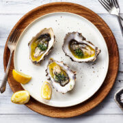 grilled oyster with butter