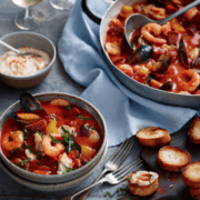 fish & chorizo stew