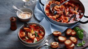 fish & chorizo stew