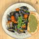 pesto mussels on toast